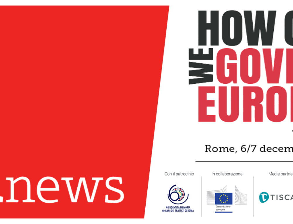"Mediamorfosi è communication partner di ""How Can We Govern Europe?"""